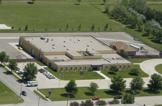 Aerial Image of James Valley Career and Technology Center Campus.